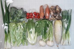 2月25日の無施肥無農薬栽培と自然栽培の野菜の定期宅配セット