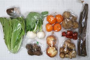 1月19日の無施肥無農薬栽培と自然栽培の野菜の定期宅配セット