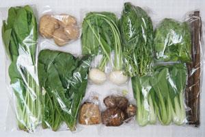 3月2日の無施肥無農薬栽培と自然栽培の野菜の定期宅配セット