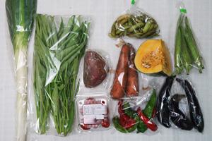 9月17日の無施肥無農薬栽培と自然栽培の野菜の定期宅配セット