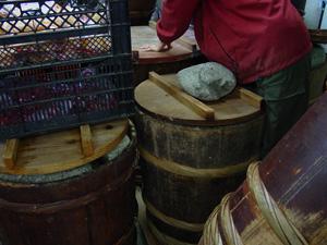 よしま農園の木樽
