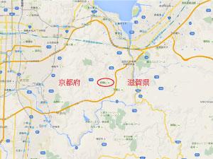 京都府と滋賀県の県境にある岩間山
