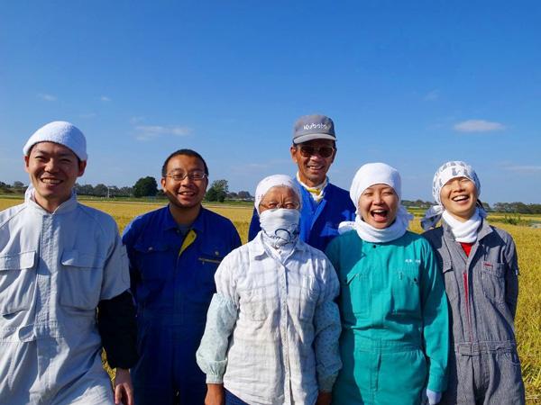無肥料・自然栽培成澤さんのササニシキ成澤さんのご家族
